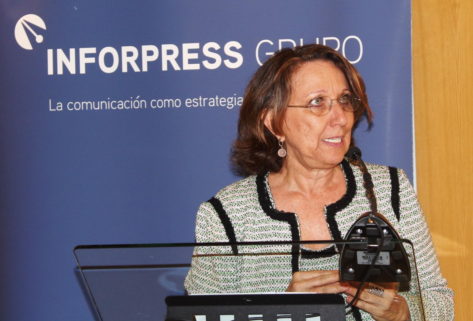 Rebeca Grynspan, Secretaria General Iberoamericana, en las Tertulias de Inforpress