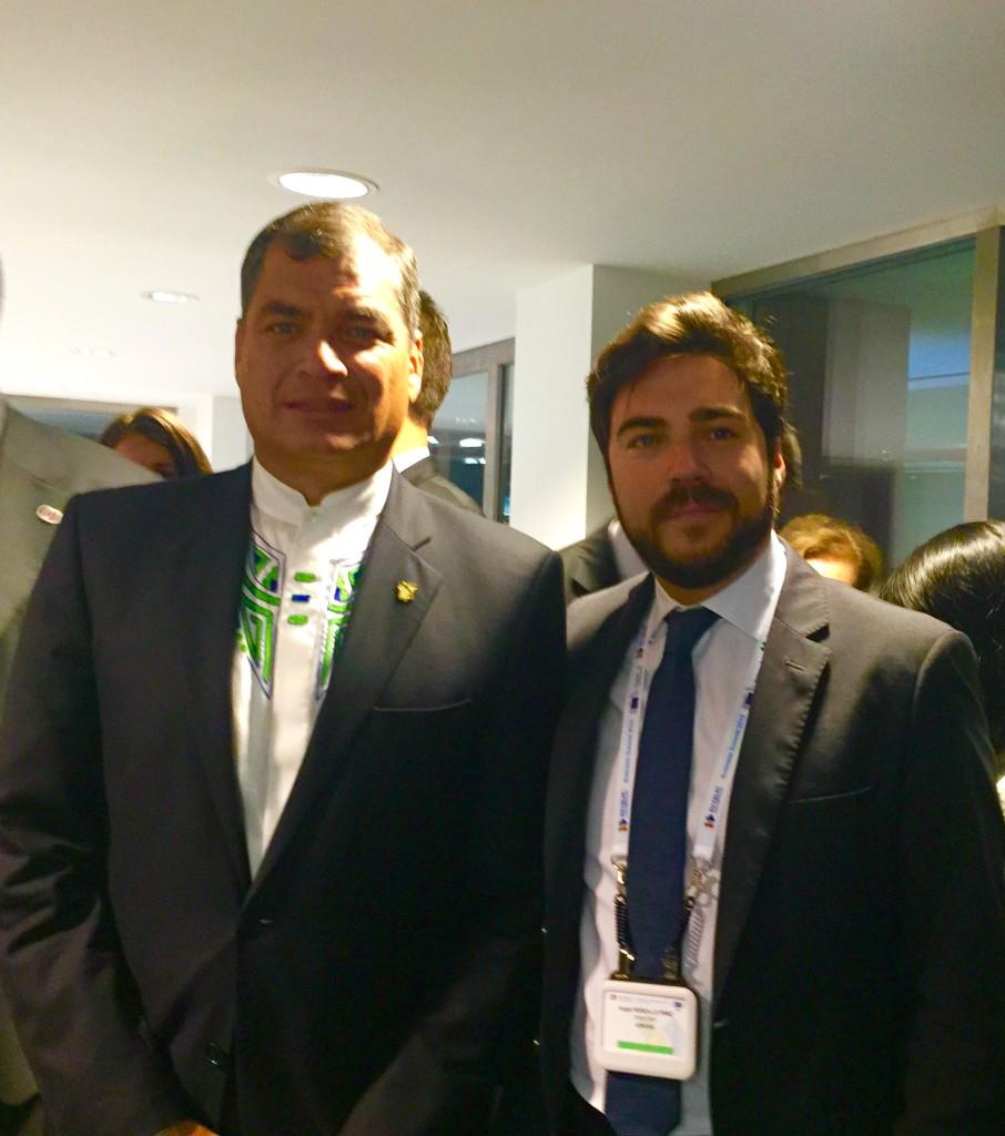 El director de ATREVIA en Bruselas con el Presidente de la República del Ecuador