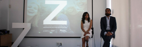 Isabel Lara, vicepresidenta de ATREVIA, e Iñaki Ortega, director de Deusto Business School en Madrid