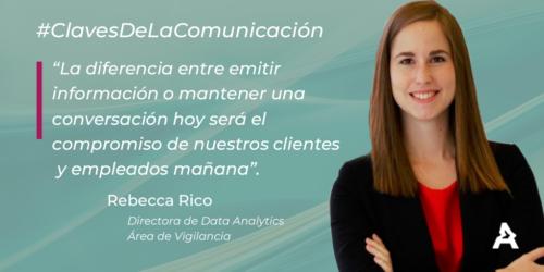 Claves de la comunicación: Rebecca Rico (#ATREVIACovid19)