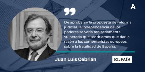 Juan Luis Cebrián, Senior Partner de ATREVIA, en El País: «Estado fallido y Estado de derecho»