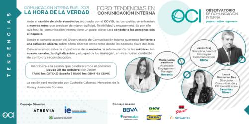 Próximo evento online: Foro Tendencias en Comunicación Interna (29.10)