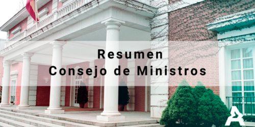 Resumen del Consejo de Ministros Ordinario – 8 de junio